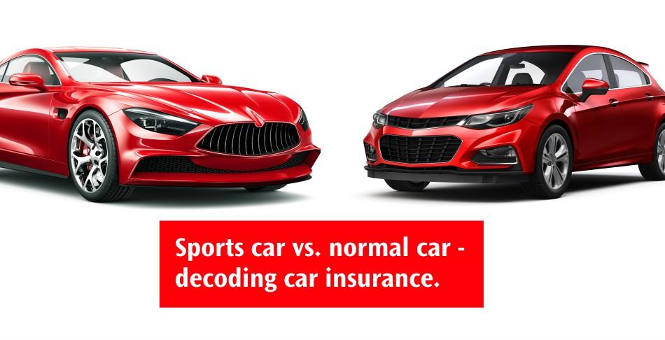 Sports Car vs Normal Car - Decoding Car Insurance