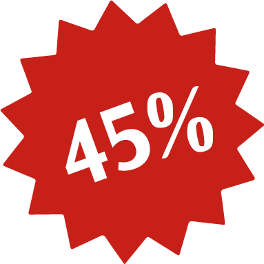 Enjoy upto 45% Discounts