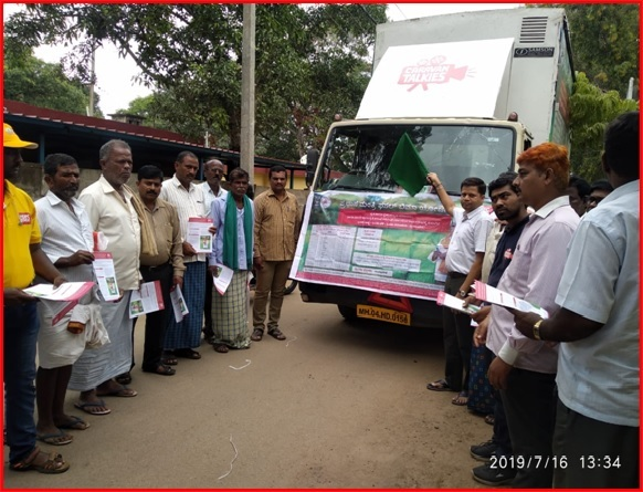van campaigning flag off by dm in devangere district karnataka