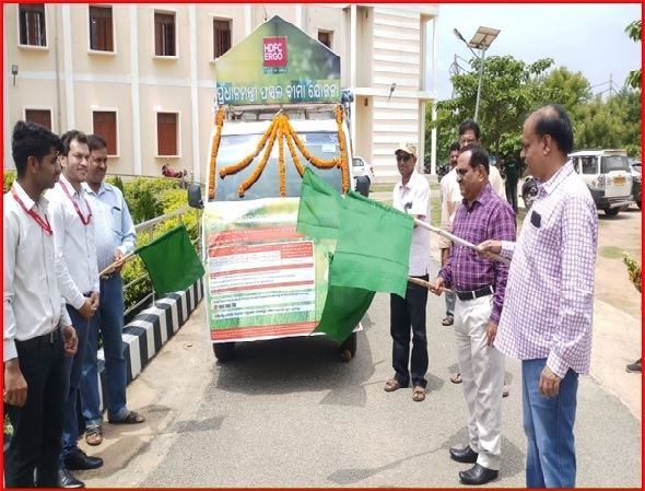 van campaigning flag off by dm in subarnapur district odisha state