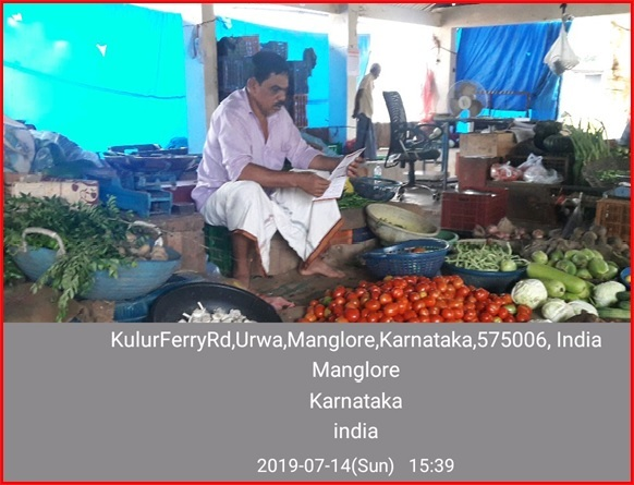 pmfby awareness in vegetable market dakshina kannada district karnataka